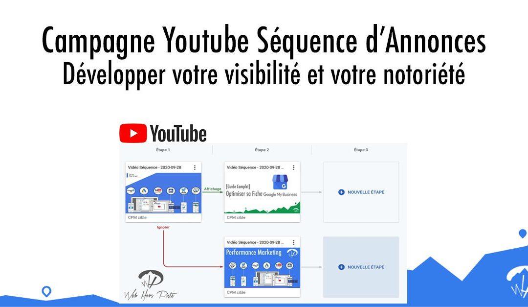 Campagne Youtube séquence d'annonces : développer votre visibilité et votre notoriété