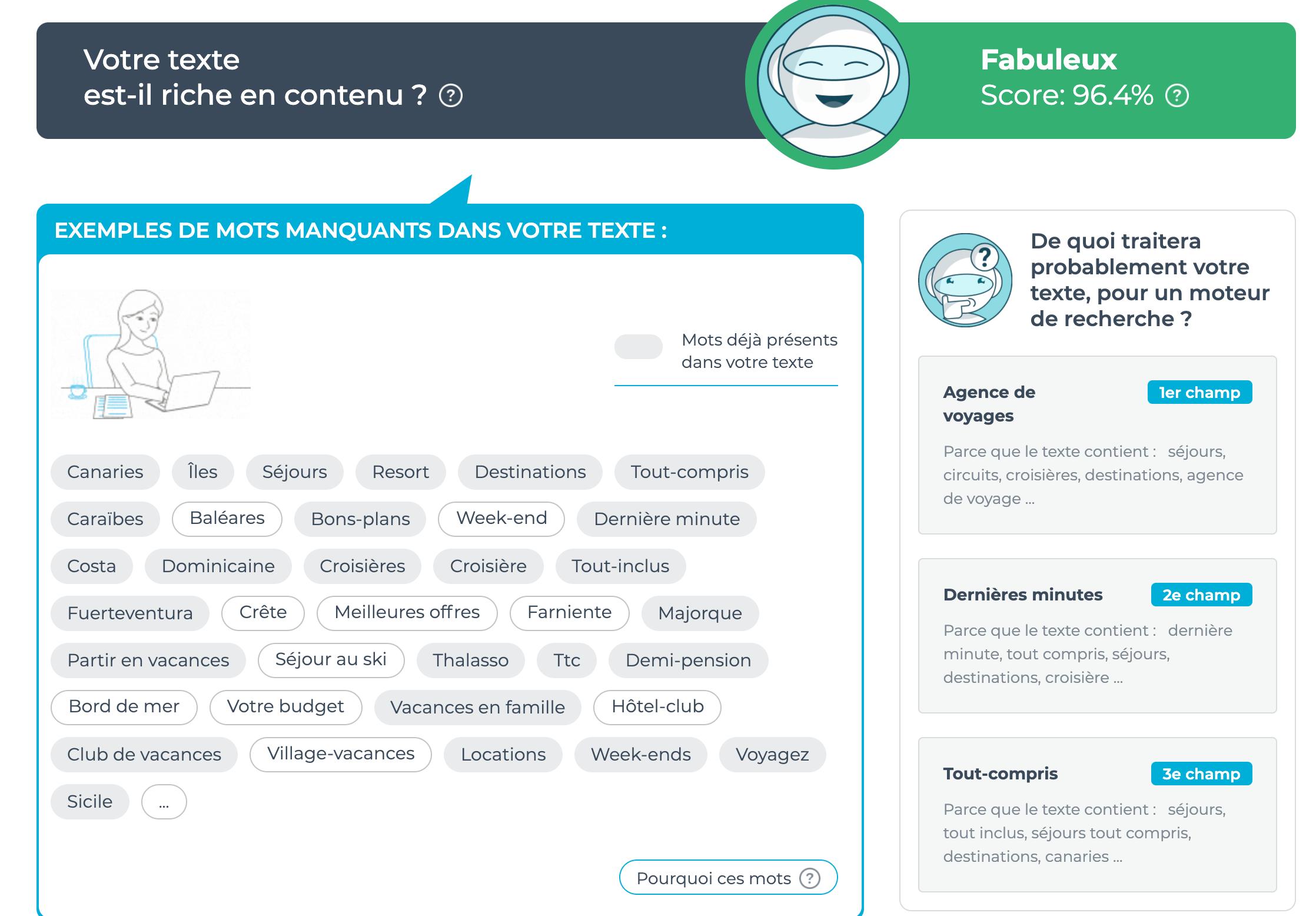 Interface 1.fr mots-clés SEO