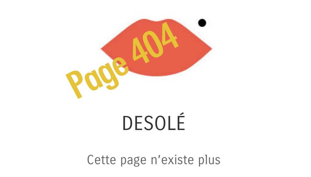 page 404 personnalisée